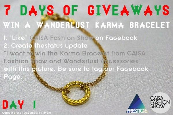 Day 1: Wanderlust Karma Bracelet GoldDay 1: Wanderlust Karma Bracelet Gold