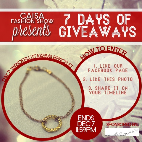 Day 7: Wanderlust Accessories Karma Bracelet Gold