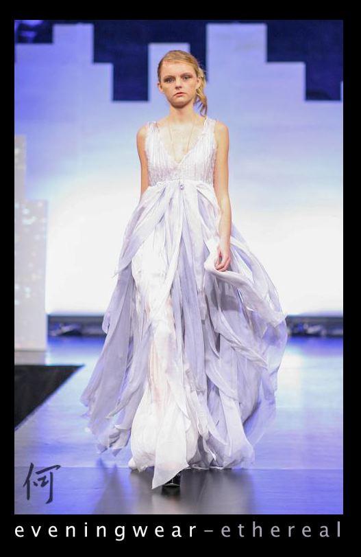 Diana Li's custom evening wear design.