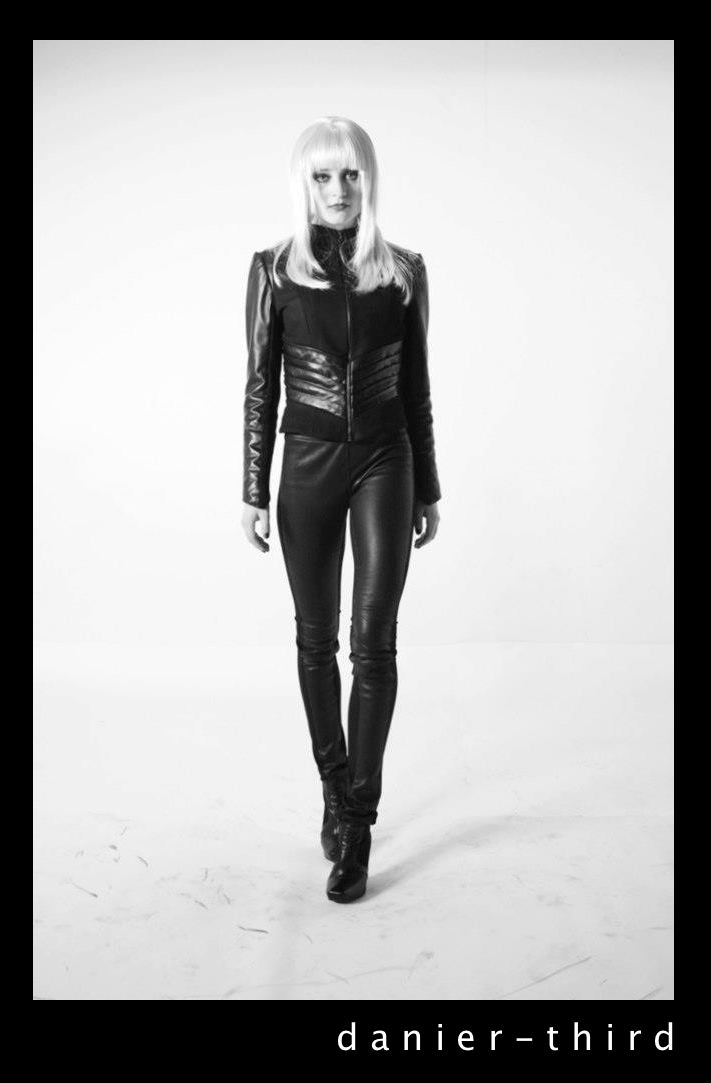 Diana Li's winning leather jacket design for Danier Leather.