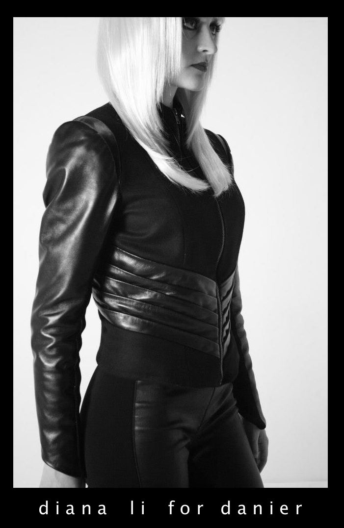 Diana Li's winning leather jacket design for Danier Leather.