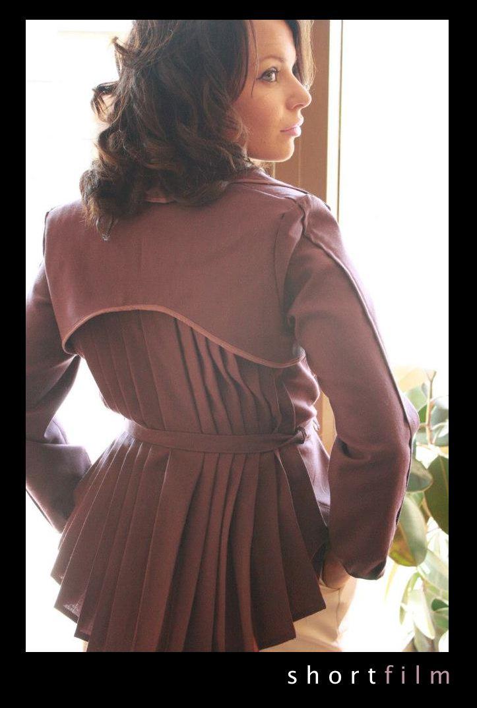 Diana Li's pleated jacket design for short film Fresnel.