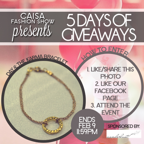Valentine's 5 Days of Giveaways - Day 4: Wanderlust Karma Bracelet