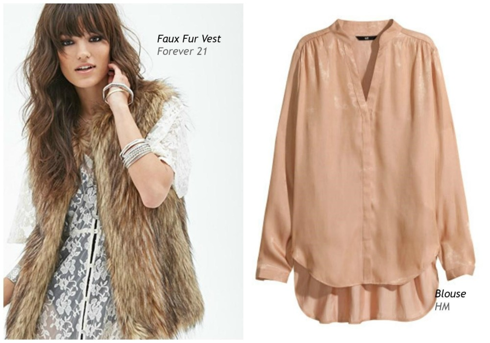 Fur Vest and Blouse