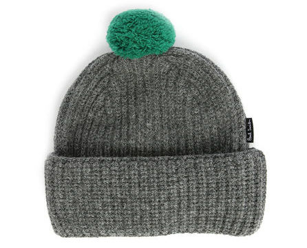 bonnet-pompon-gris-et-vert-paul-smith-accessory-gris-bonnets-264969_1